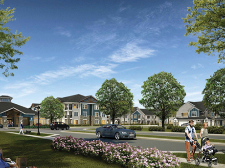 The 298-unit community is the first phase of Village Square at Newnan Crossing, a 123-acre, walkable mixed-use development in Newnan, Ga., roughly 40 miles southwest of Atlanta.